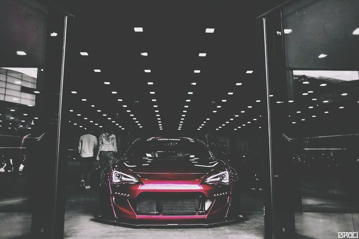 Car Transportation Shiny Built Structure Red Illuminated Indoors  Technology Auto Racing No People Racecar Architecture Day Cars Lowrider Static Stance Street Subaru Scion  Toyota Subarubrz Toyotagt86 Scion Fr-S FRS