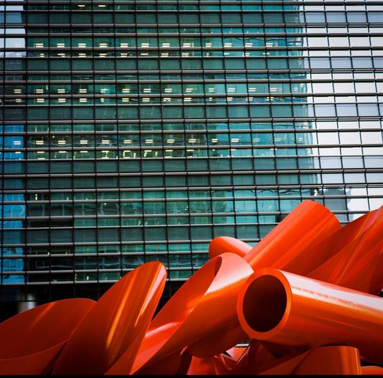 Facades of Tokyo 12 Architecture Built Structure Building Exterior No People Day Red Outdoors Modern Metal Industry Pattern Building Orange Color