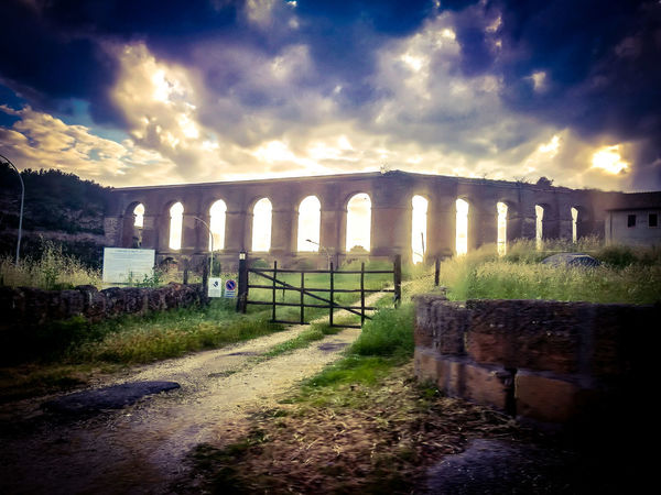 Acquedotto Controluce Military Prison War History Protection Gate Grass