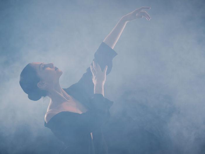 Female ballet dancer performing