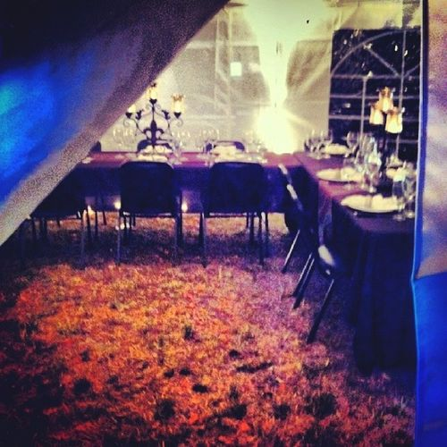 A peek inside the tent. Theroamingtablesociety