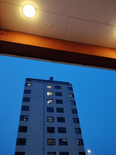 Night Highrise Architecture Built Structure Blue Low Angle View Window No People Building Exterior City