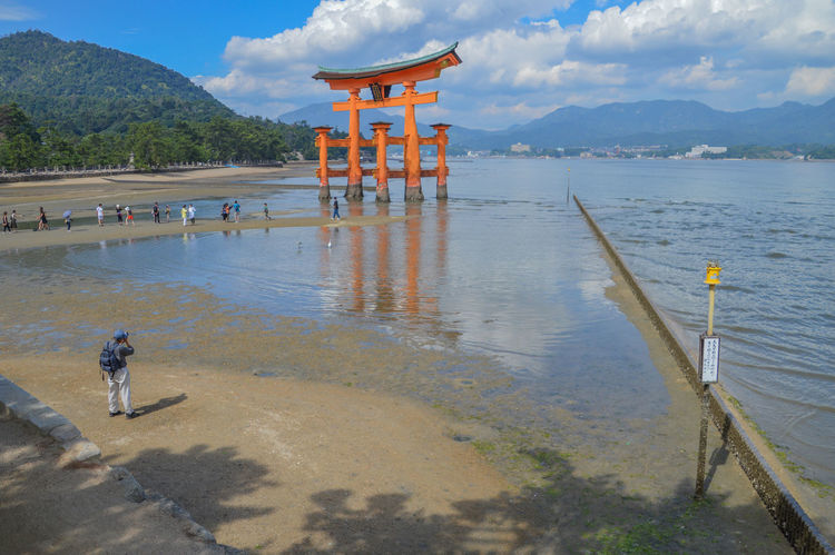 The Tori From Itsukushima Shrine At Miyajima Japan Gate Itsukushima Shrine Japan Japanese  Miyajima Island Itsukushima Miyajima Island Ocean Photographer Religion Sea Shinto Shintoism Tori