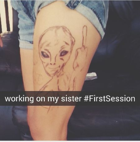 Pratice makes perfect right? Tattoo Art Firstsession Progress Pic