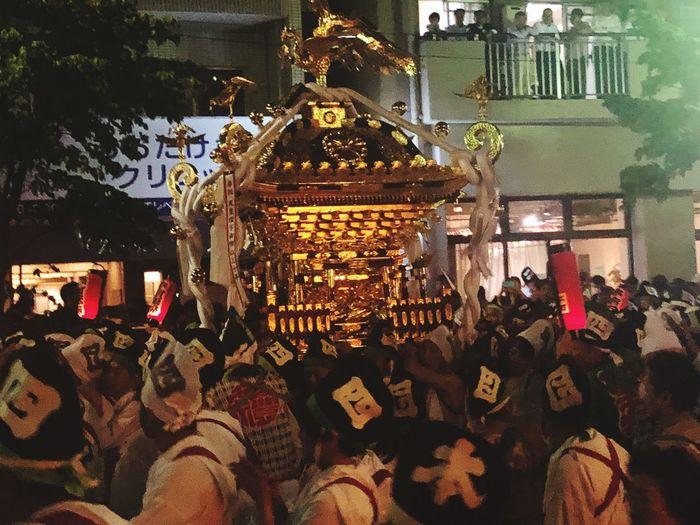 噂のくらやみ祭 Japanese Traditional OokunitamaJinja Fuchu-shi Group Of People Large Group Of People Crowd Built Structure Illuminated Men