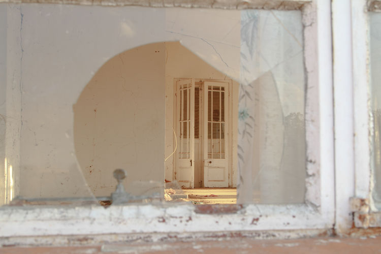 Broken Window Outdoors Building Exterior Architecture Building Old Abandoned Door Sunlight Window House Open Arch South Africa Broken Window No People Free State Window Frame White Color Built Structure Background Focus Day