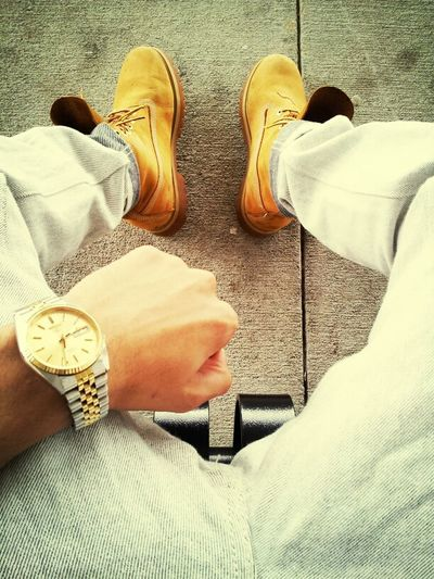Chillin.. #Timbs #Rollie
