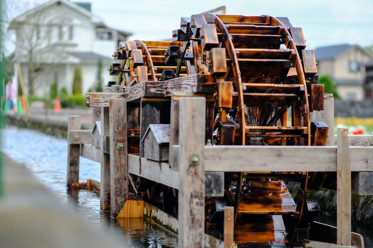 Architecture Built Structure Canal Close-up Day Focus On Foreground Nature Nautical Vessel No People Outdoors Selective Focus Sky Water Waterwheel Wooden Post X-PRO2 The Street Photographer - 2016 EyeEm Awards