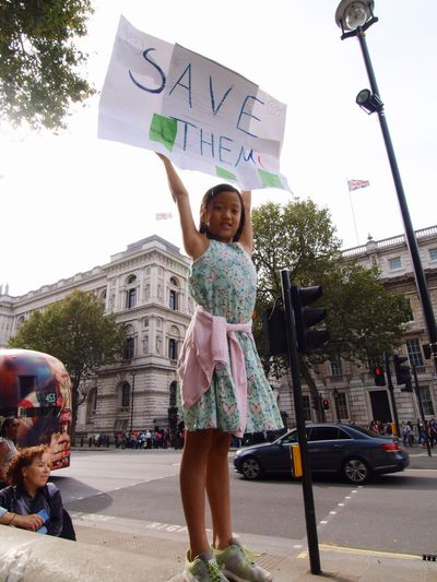 Global March Fro Elephants And Rhinos, London, U.K., 24/09/2016 Global March For Elephants And Rhinos Stevesevilempire Steve Merrick Olympus Rhinos Playful Childhood London Ivory Trade Ban Ivory Elephants