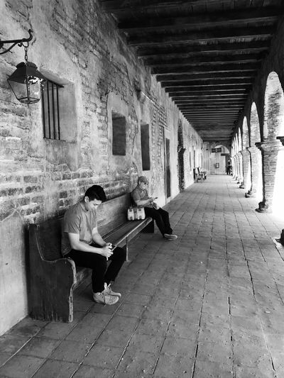 Architecture Two People Built Structure Real People Technology San Juan Capistrano Blackandwhite Sitting EyeEm Selects