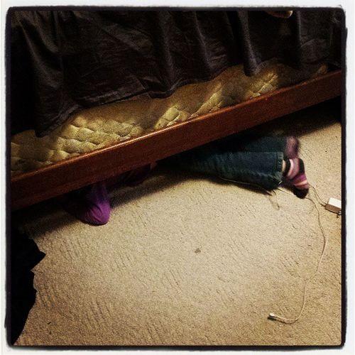 Something's under my bed.... Funbeforesleep Hideandseekrules