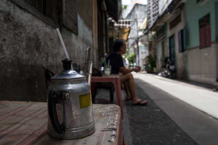 Focus On Foreground Morningtea One Person Outdoors Street Streetphotography Tea Tea Time Vietnam