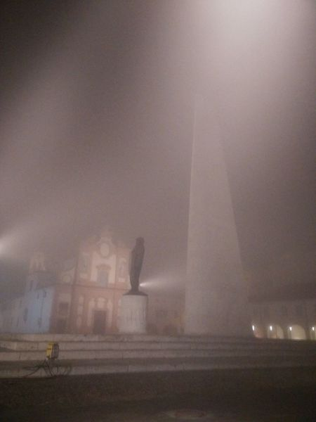 monumento Francesco Baracca Fog Outdoors Built Structure Architecture No People Night Sky Building Exterior Spraying City Water Shades Of Winter The Graphic City