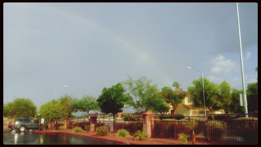Right outside my place. Flashfloods like crazy out here in LV. Las Vegas Flashfloods Rainbow