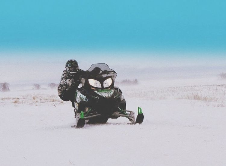 Snow Sports Day Nature Beauty In Nature Land Vehicle Sky Landscape Clean Photooftheday Nofilter Photography Outdoors Freshness Beauty In Nature Winter Canada, Eh? Snow Snowmobile