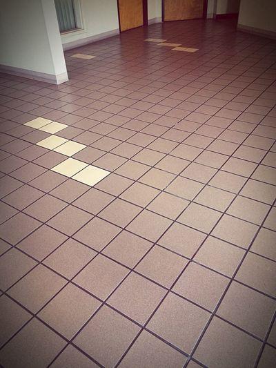 View of tiled floor