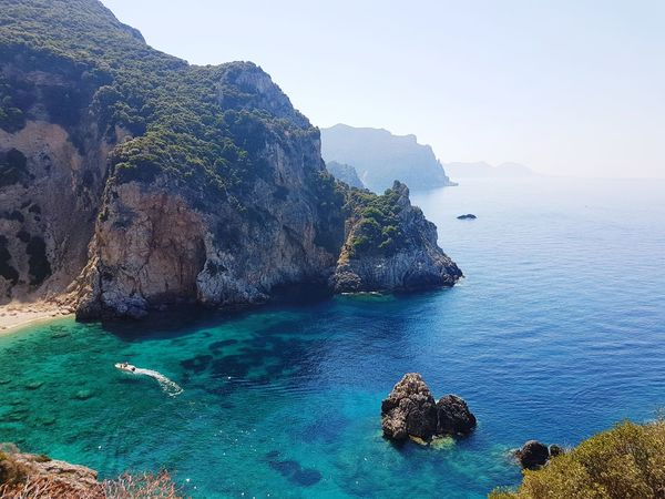 Sea Nature Beach Mountain Water Landscape Outdoors Travel Destinations Beauty In Nature Blue Day Sky Unbelievable Views Kerkyra_corfu Greece Unbelievable Korfu Kerkyra