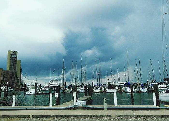 A beautiful storm raging inside Storm Blues Thunderstorms Dark Ominous Looming Presence Clouds Cumulonimbus Cloud Marina Bayfront Waterfront Boats⛵️ Yachts Downtown La Vita È Bella