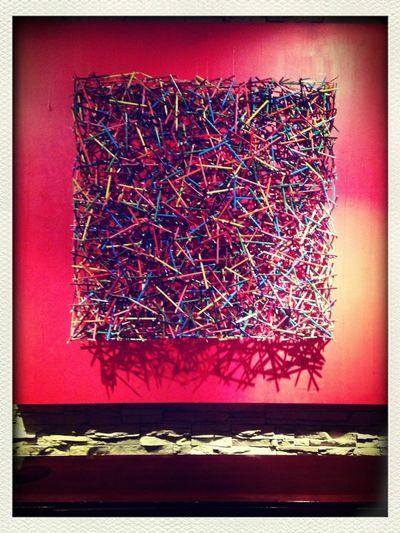 Art Piece Made Of Color Pencils