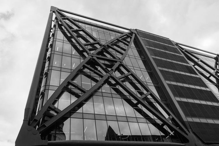 Multiply! Multiply Architecture Building Building Exterior Built Structure Cloud - Sky Day Industry Low Angle View Metal Modern No People Outdoors Pattern Shape Sky X