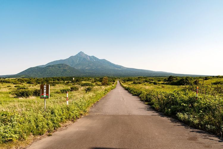 EyeEm Selects Landscape Road The Way Forward Sky Outdoors People Nature Scenics Adult Day Mountain Beauty In Nature Rural Scene Rishiri Island Hokkaido Japan Lost In The Landscape