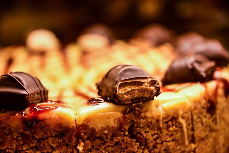 Close-Up Of Chocolate On Dessert