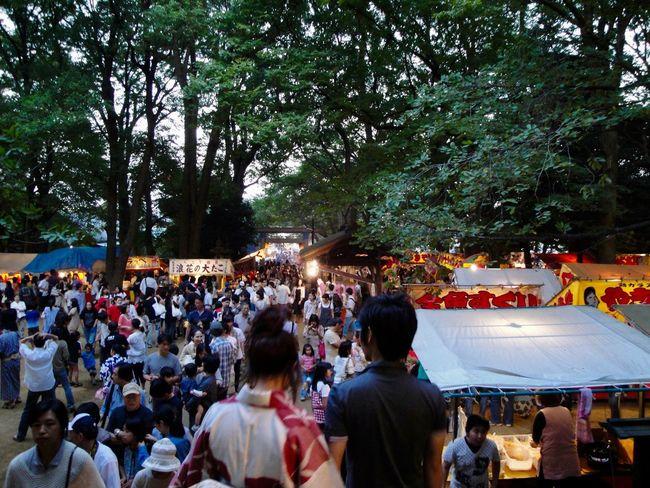 Crowd Festival Japonism Lifestyles Tokyo 屋台 氷川神社 祭
