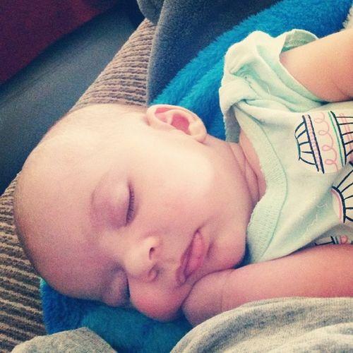 Babygirl 6weeksold Elizamae Sleepybaby chubbycheeks