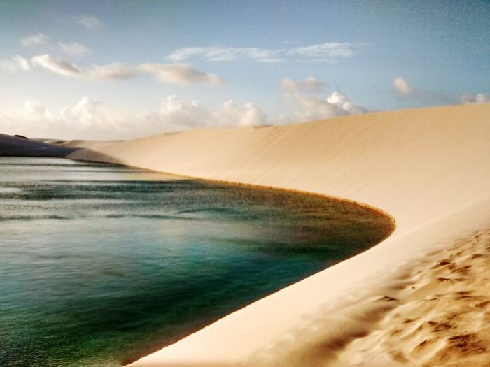 Sand Dune Water Beach Desert Sea Sand Mountain Heat - Temperature Sky Landscape First Eyeem Photo