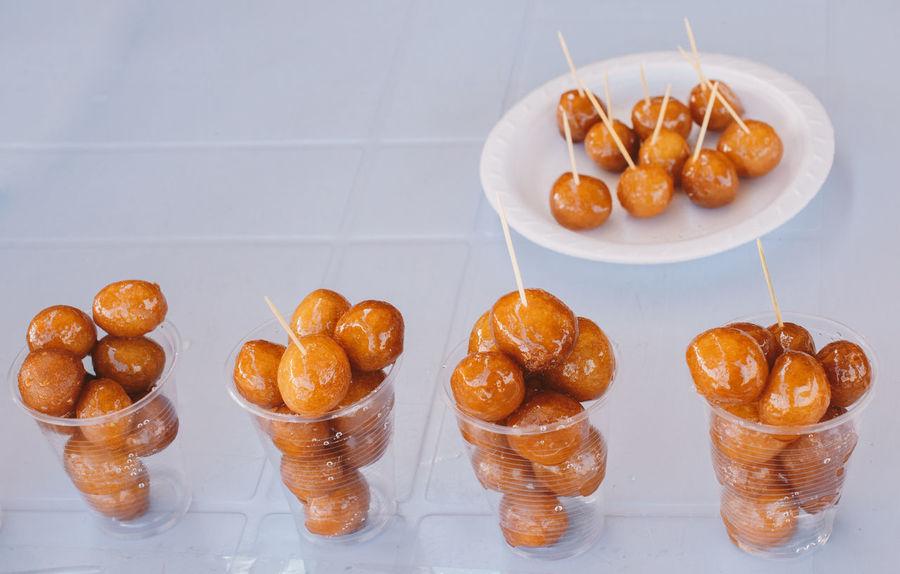 a small, round, syrupy friedcake Turkish Dessert Turkish Food