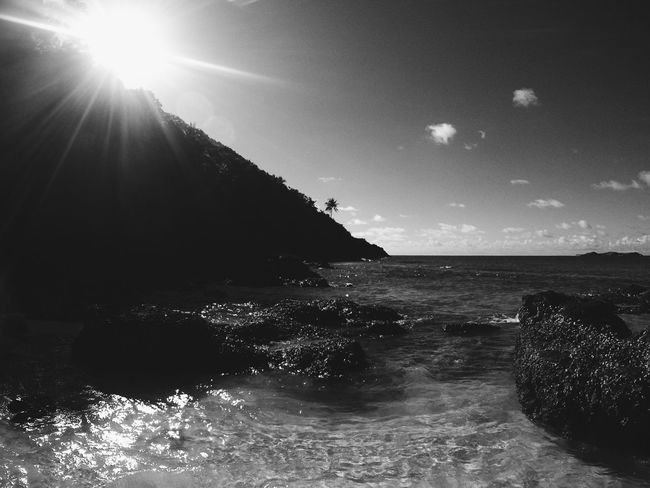 Beach Black And White Calaguas Outdoors Philippines Shore Summer Water