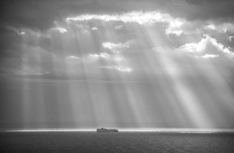 A ferry crosses
