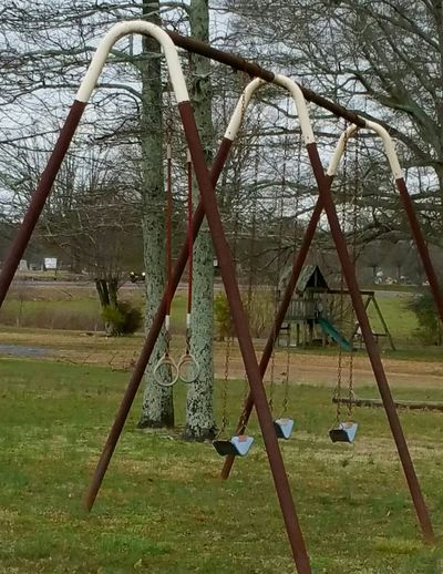 Easter Ready Swingset Spring Rain Wet Playground Equipment Fun Nature_collection Natural Beauty Nature Photography Nature_perfection Nature Design Swing