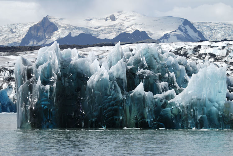 Iceland Jökulsárlón Beauty In Nature Cold Temperature Floating On Water Frozen Glacial Glacier Global Warming Ice Iceberg Landscape Melting Mountain Nature No People Outdoors Scenics Sea Sky Snow Tranquility Water Waterfront Winter
