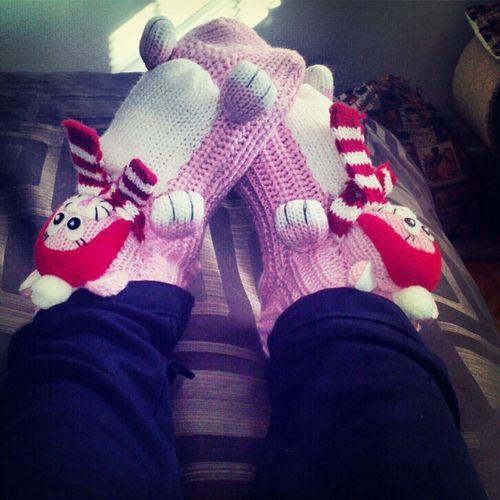 Kitty Socks, Rack Room Shoes. #cute & #cozy