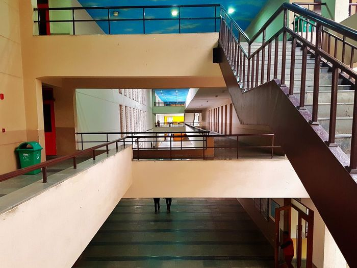 Railing Architecture Built Structure Indoors  Steps Steps And Staircases Staircase No People University Day Noida College Yellow Light Indoor Indoor Photography Indoor Architecture Indoor Decorations Indoor Design