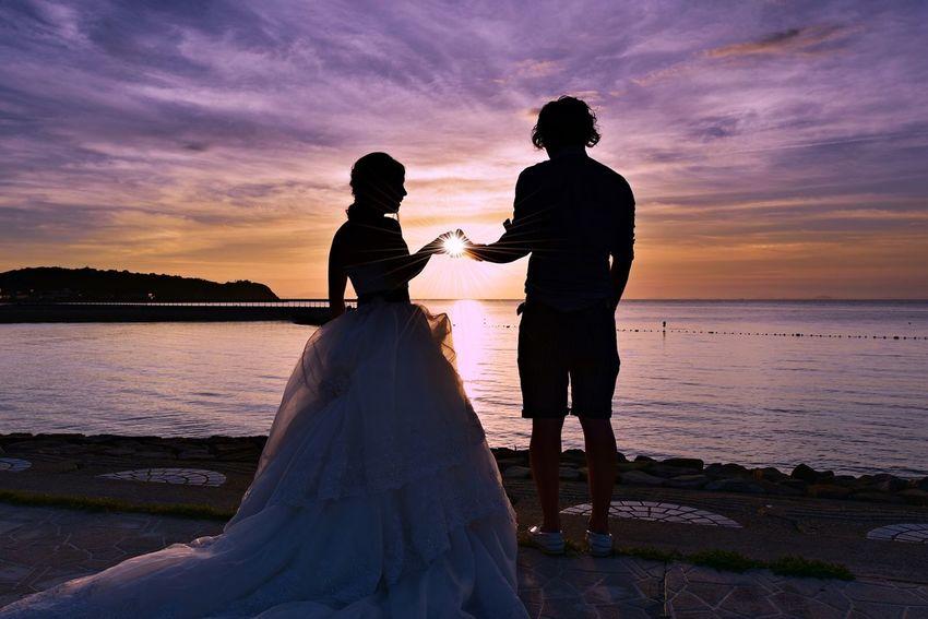 EyeEmNewHere EyeEm Gallery EyeEm Selects EyeEm Best Shots Wedding Wedding Photography Two People Wedding Celebration Water Sunset Event Sky