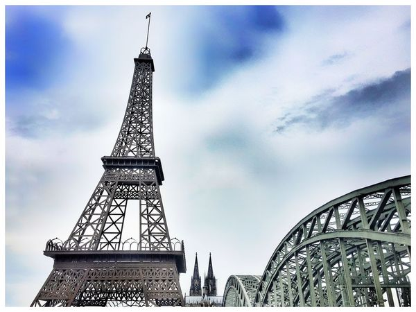 Tower Architecture Built Structure Sky Tourism Monument No People Low Angle View Travel Destinations Outdoors Tall Day City Eiffel Tower Miniature Cologne Cathedral World Heritage Hohenzollernbrücke Iihf World Championship2017 Iihfworlds Iihfworldscologne