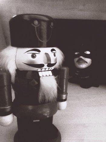 Hello World The Nutcracker  and his friend Batman
