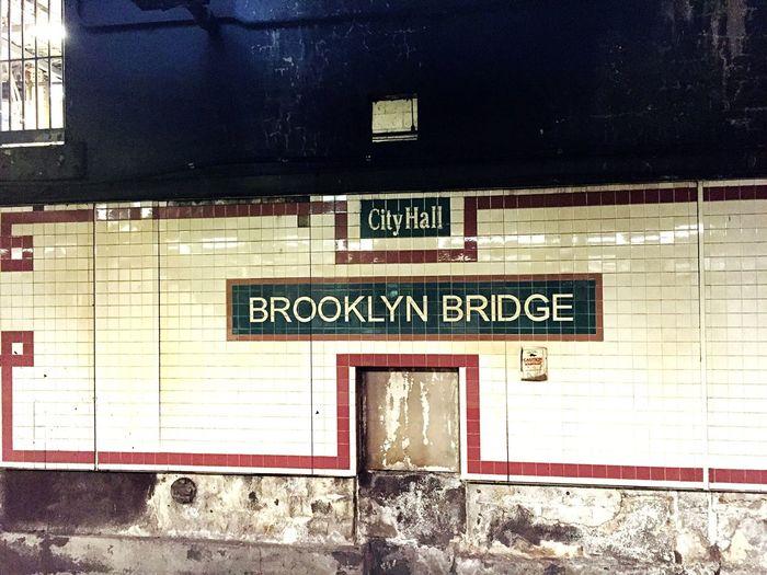 Information sign at railroad station