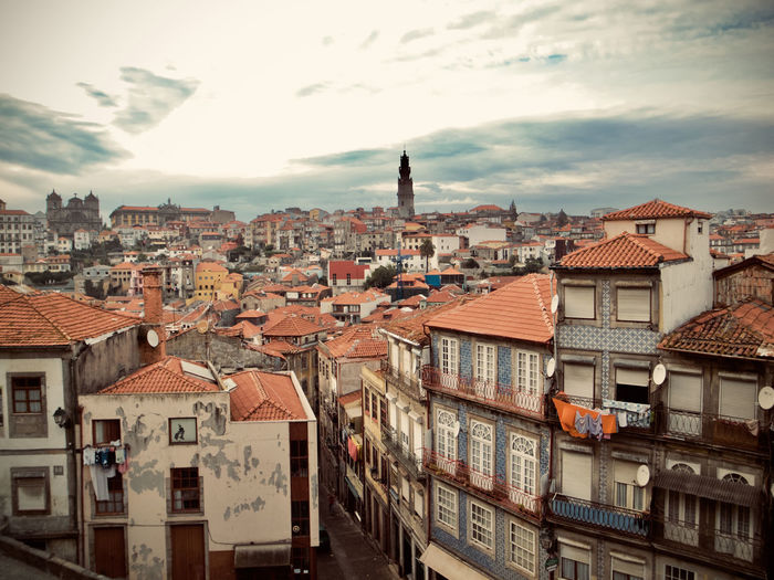 City Cityscape Oporto, Portugal Portugal Apartment Architecture Building Building Exterior Built Structure City Cityscape Cloud - Sky Color Community Crowd Crowded Day High Angle View House Nature Outdoors Residential District Roof Roof Tile Settlement Sky Town TOWNSCAPE