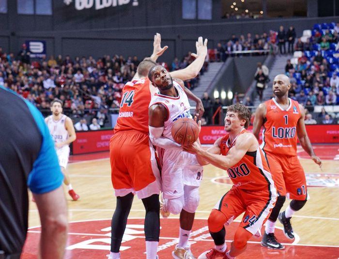 Competition Sport Stadium Watching Match - Sport Basketball - Sport Eurocup  Lokomotiv-kuban Professional Sport