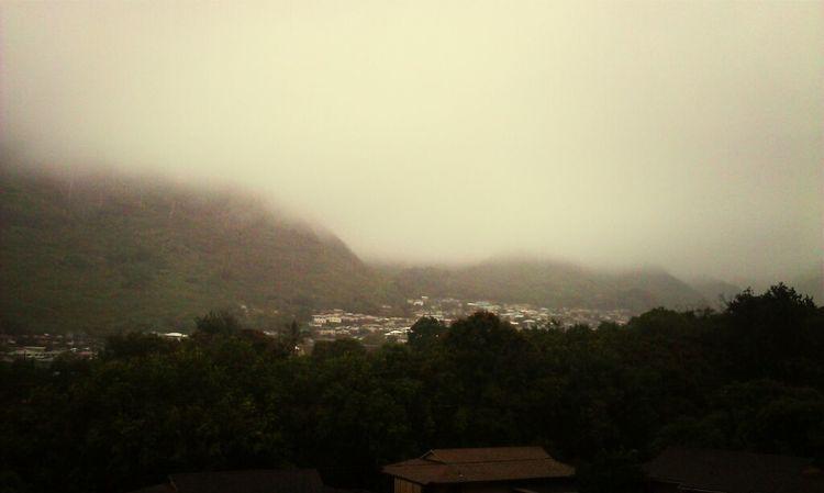 Clouds Paradise Landscape Hawaii Palolo Valley Rain Or Shine