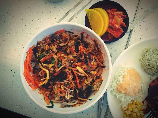 Bibimbab Korean Food Radish Kimchi Green Tea Rice