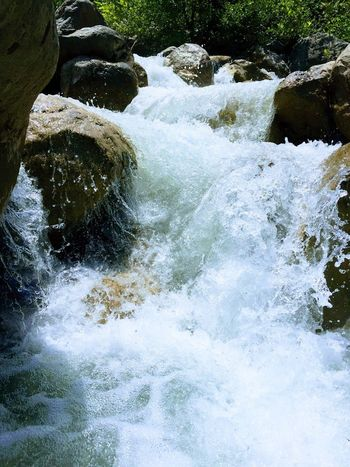 Water Nature Motion Beauty In Nature Outdoors Day Waterfall Mountain White