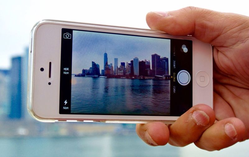 On the boat, the view of New York, the city where everything is excessive. My Smartphone Life