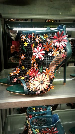 Spring Has Arrived On My Shoe !!!!😉😉 Spring Flowers Zarashoes High Heel Shoes SPRING SHOE SHOPPING  Spring Shoes