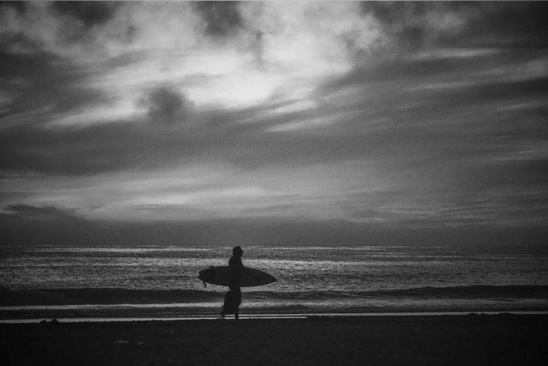 OtherMindMedia Taking Photos Soundtrack Of Our Lives Tranquility Beach Surfer Blackandwhite Sea Life Enjoying Life Sunset