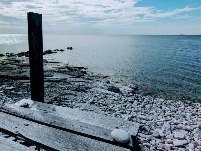 Sea Beach Water Horizon Over Water Sand Scenics Outdoors Tranquil Scene Tranquility Nature Beauty In Nature No People Day Vacations Sky Gotland, Sweden Sweden HTC_photography HTC Scandinavia Balticsea Low Angle View
