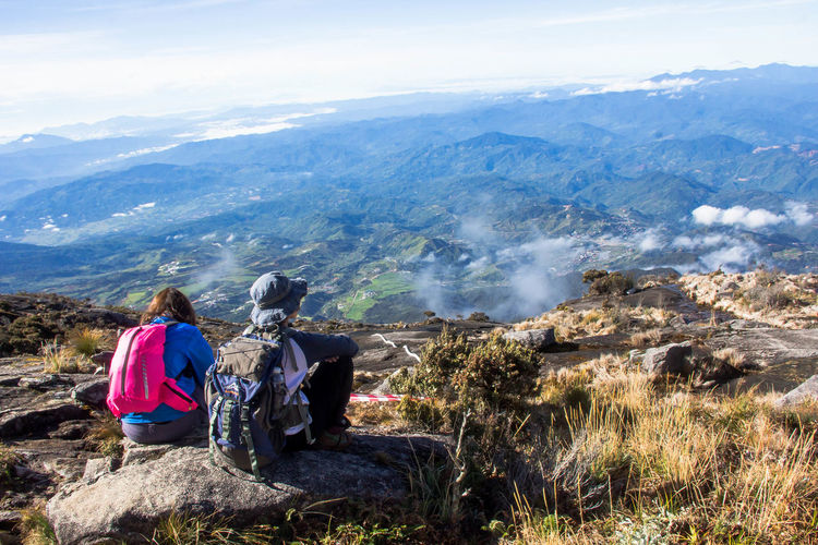 Be Brave Adventure Beauty In Nature Hiking Looking At View Mountain Mountain Range Scenics - Nature Two People